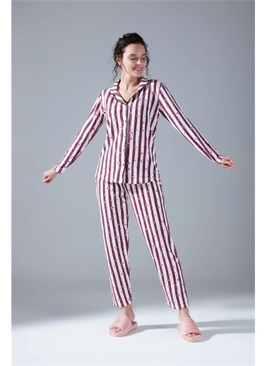Mizalle İçi Şardonlu Penye Pijama Takımı  Renkli